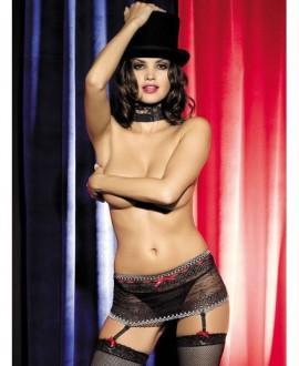 Podvázkový pás Obsessive Showgirl garter belt