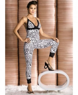 Souprava Obsessive Zebra top + pants
